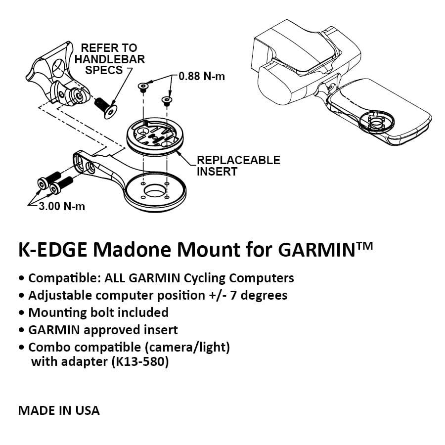 76 Projects Trek Madone Garmin 520//820 Bar mount